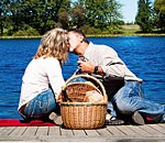 Have a Romantic Picnic for Two out on the Dock by our Private Lake...