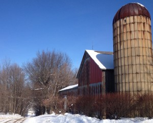 Michigan winter barn