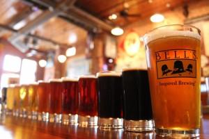 Beer tasting near Saugatuck, Michigan