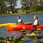 Take the Kayaks out onto our Private Lake