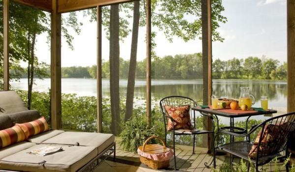 Deck and Lake at our Romantic Michigan Inn