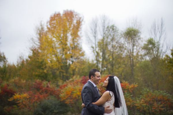 winter wedding in Michigan