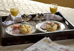 Breakast in Bed in Michigan Honeymoon