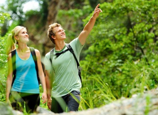 couple enjoying the best of West Michigan hiking