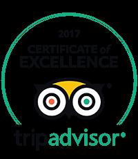 Trip Advisor Certificate of Excellence winner