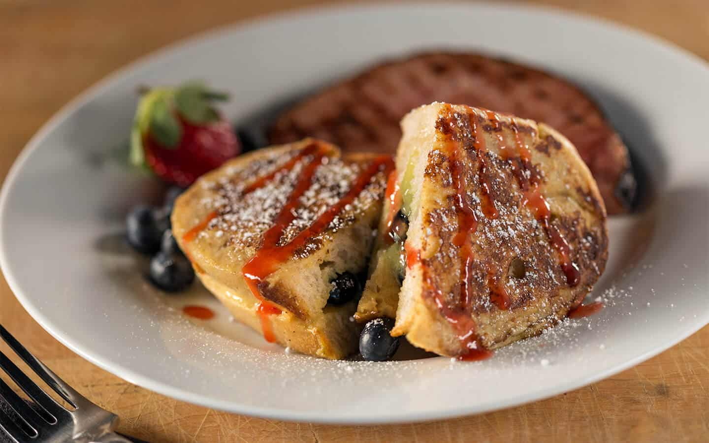 French Toast with Blueberries Breakfast