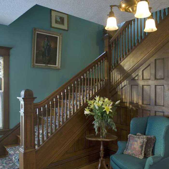 Allegan bed and breakfast staircase inside the house