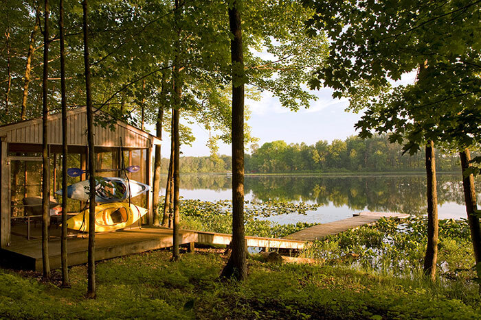 Our Lake with Kayaks