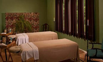 Spa room with massage tables