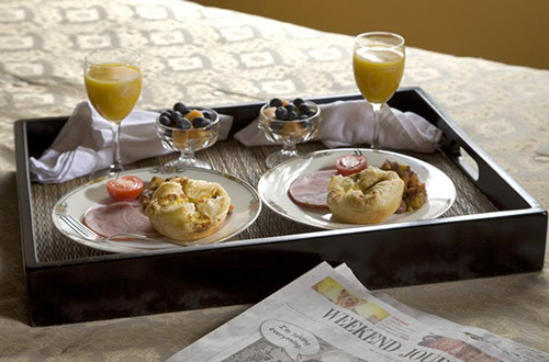 Tray of Breakfast in Bed