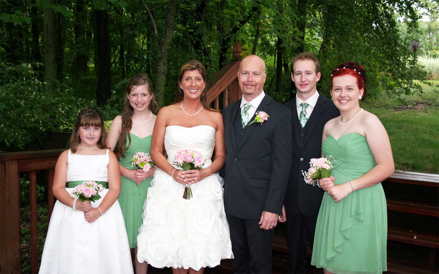 Bridal party at our destination wedding location in Michigan