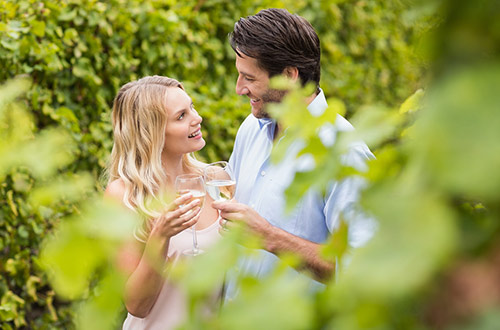 Couple enjoying a winery