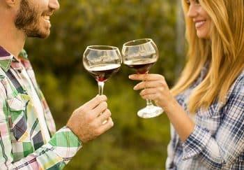 Couple enjoying wine tasting