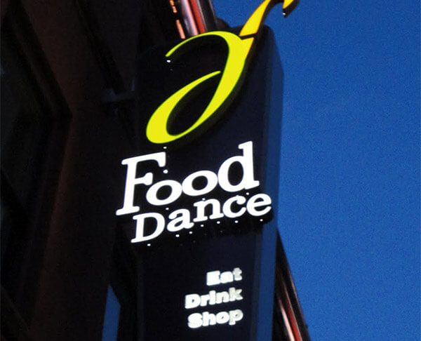 Food Dance restaurant sign