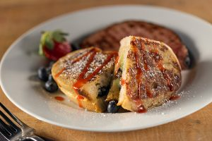 French toast breakfast with berries