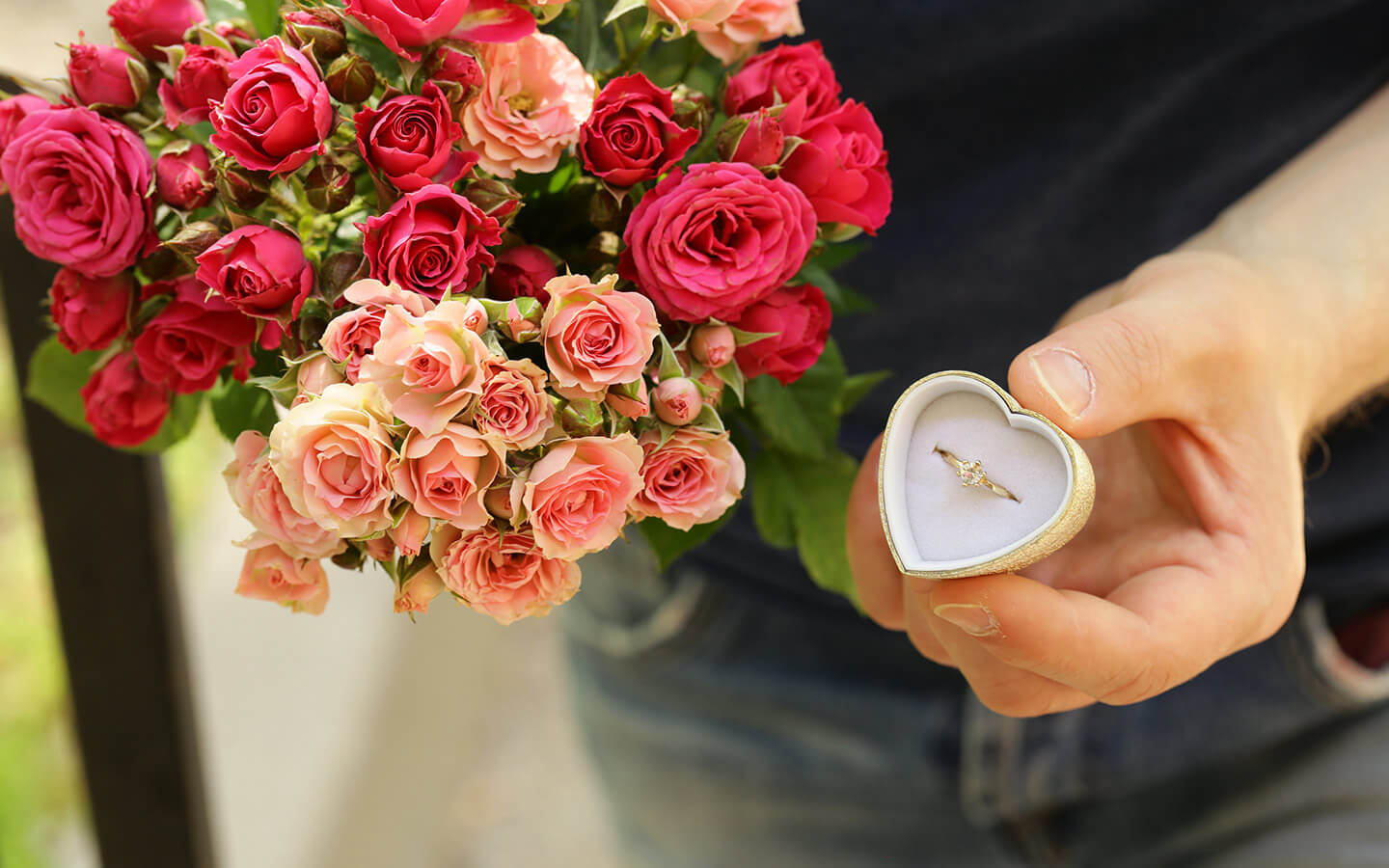 Flowers and a ring