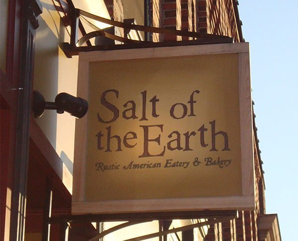 Salt of the Earth restaurant sign