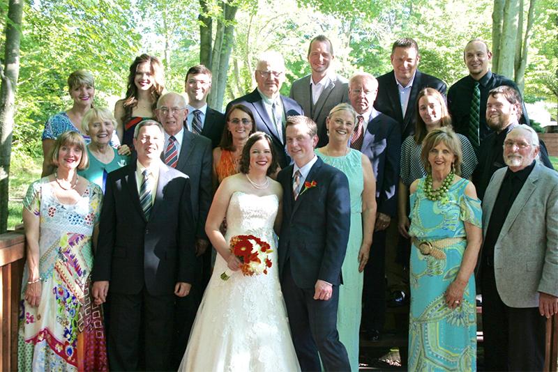 Wedding Reception family