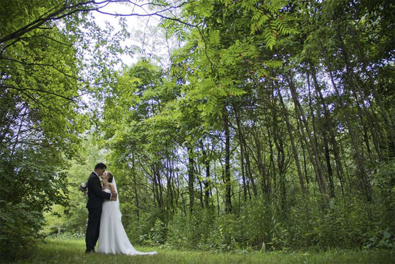 Wedding couple in our forest