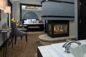 Sir Lancelot Suite with Roaring Fireplace, Jacuzzi Tub and King Bed