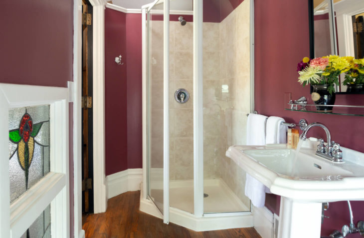 Jewel Box Room Bathroom with Walk In Shower