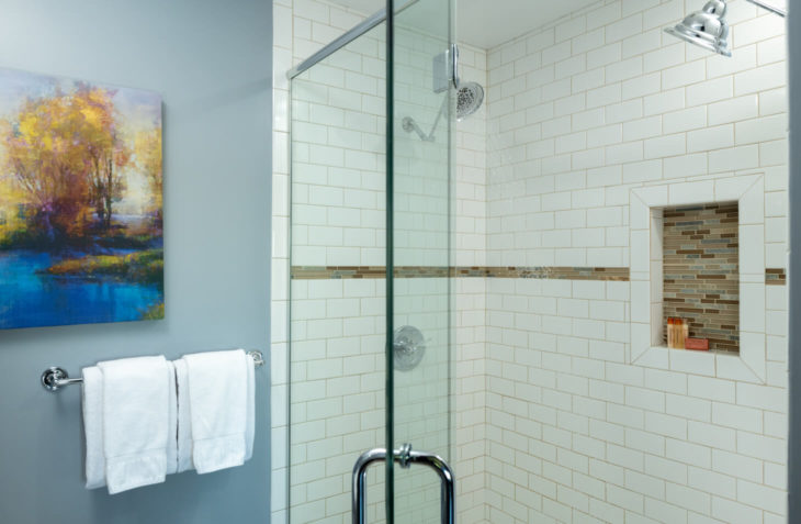 2 Person shower with all glass doors.