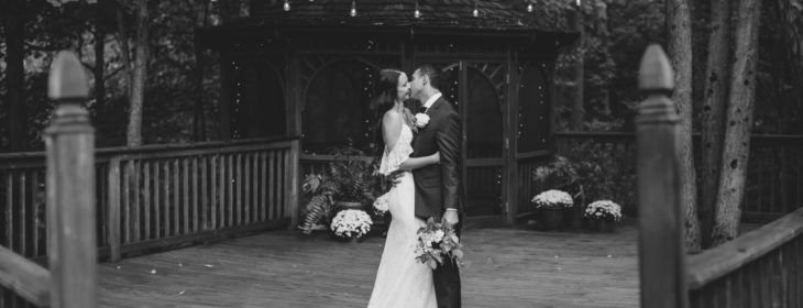 Bride and groom eloping in Michigan